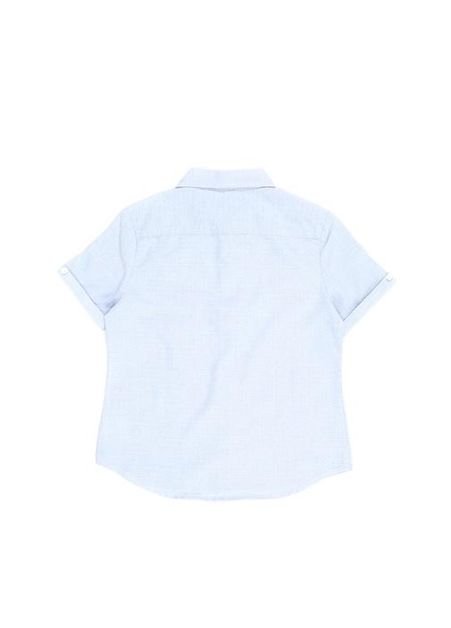 Mavi Bebe Yaka Unisex Çocuk Bluz