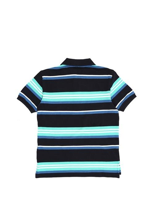 Colorblocked Polo Yaka Logo Nakışlı Çocuk T-shirt