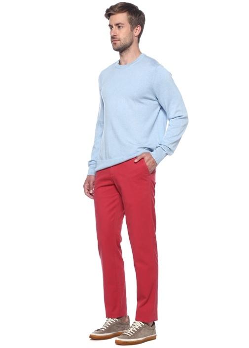 Kırmızı Normal Bel Dar Paça Pantolon