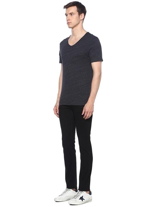 Antrasit V Yaka T-shirt