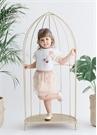 Glitter Star 2li Pudra Beyaz Kız Çocuk Set