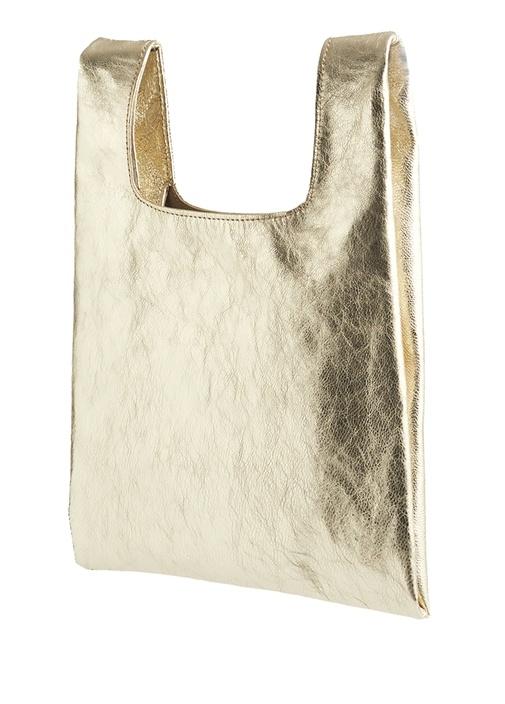 Pigalle Gold Kadın Deri El Çantası
