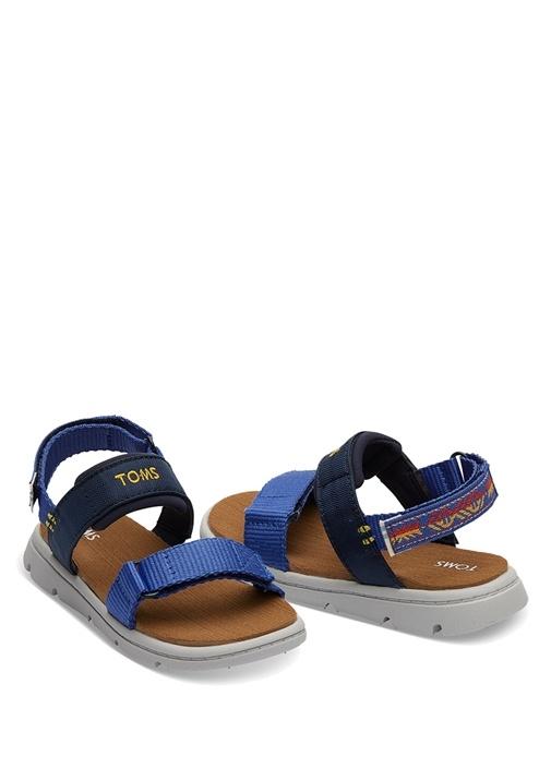 Lacivert Logolu Unisex Çocuk Sandalet