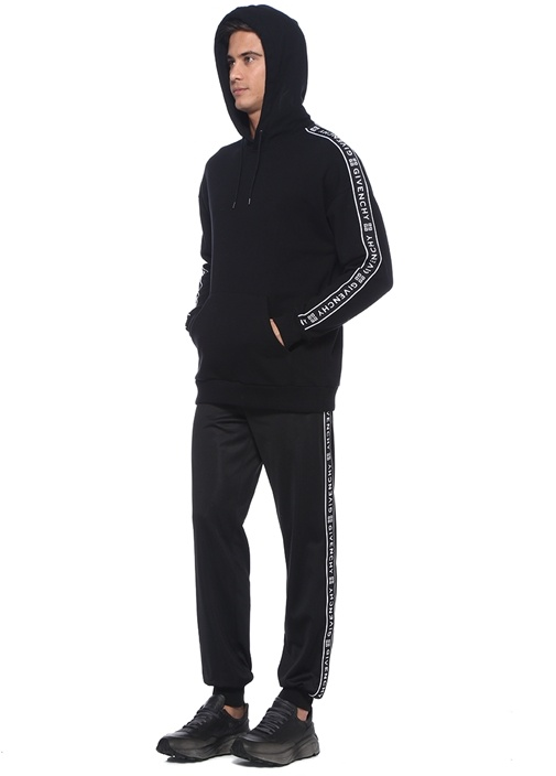 Siyah Şerit Logolu Jogger Eşofman Altı