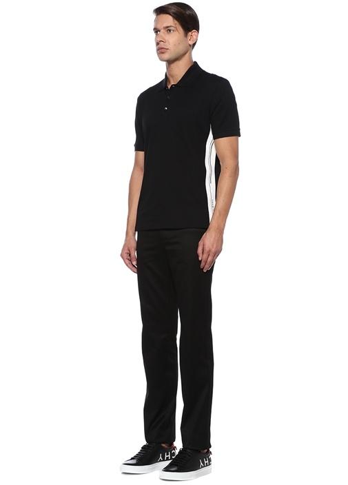 Siyah Polo Yaka Cepli T-shirt