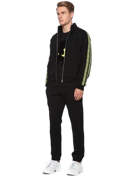 Siyah Logo Bant Detaylı Sweatshirt