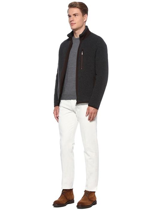 Narrow Fit Beyaz Normal Bel Jean Pantolon