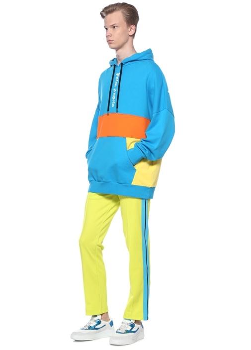 Colorblocked Kapüşonlu Sweatshirt