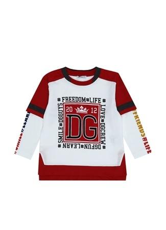 Erkek Çocuk Beyaz Kırmızı Yaka Detaylı T-shirt 2 Yaş EU