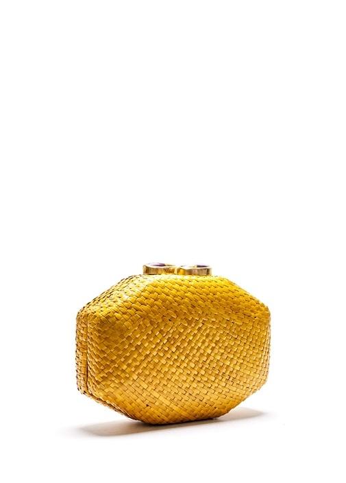 Amora Sarı Doğal Taşlı El Yapımı Kadın El Portföyü