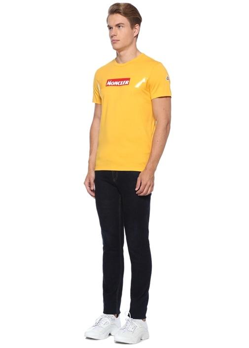 Hardal Bisiklet Yaka Logolu Basic T-shirt