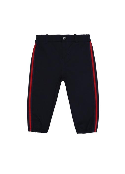 Lacivert Kırmızı Şeritli Erkek Bebek Pantolon
