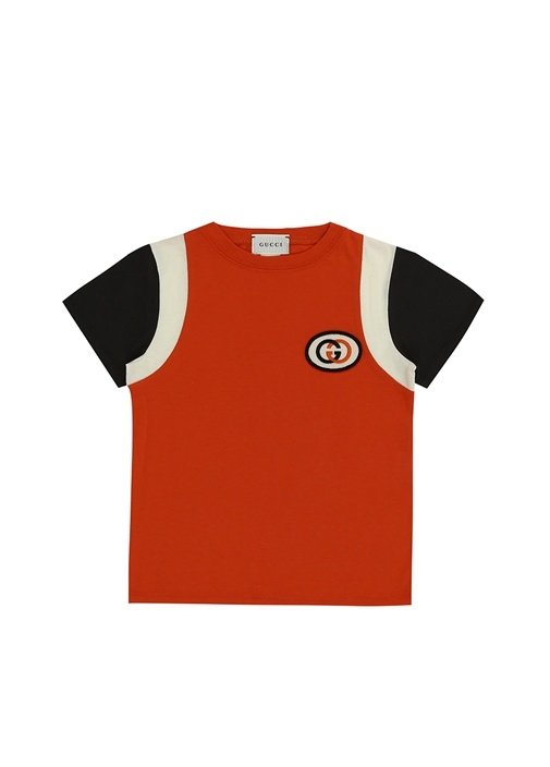Turuncu Logolu Erkek Çocuk Basic T-shirt