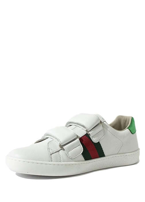 Beyaz Unisex Deri Sneaker