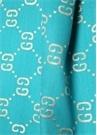 Mavi Simli Logo Jakarlı Kız Çocuk Şal