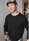 Lacivert Kabartmalı Slogan İşlemeli Sweatshirt