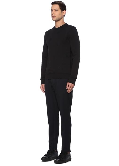 Siyah Puantiyeli Sweatshirt