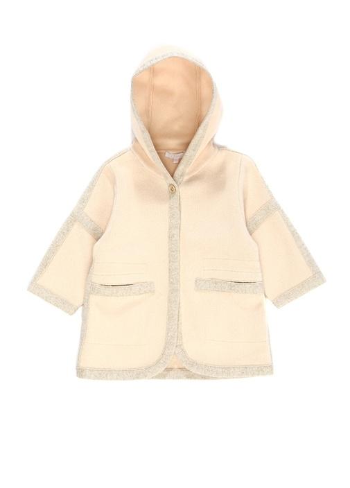 Pembe Kapüşonlu Kız Çocuk Ceket