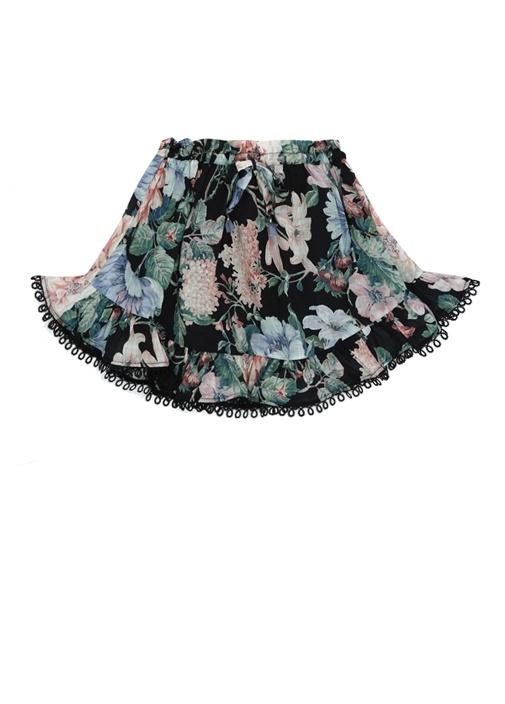 Verity Colorblocked Çiçek Desenli Kız Çocuk Elbise