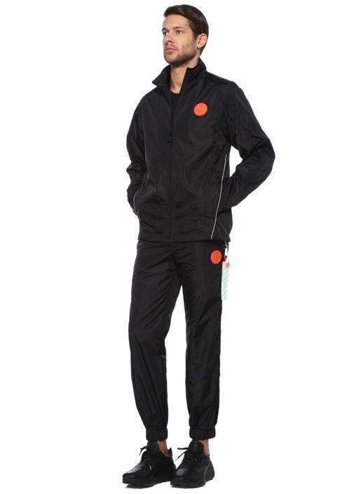 Siyah Beli Kordonlu Şeritli Jogger Eşofman Altı