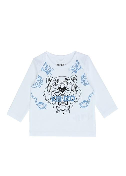 Tiger Beyaz Erkek Bebek Organik Pamuk Sweatshirt