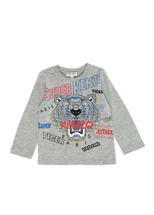 Tiger Gri Baskılı Erkek Çocuk T-shirt