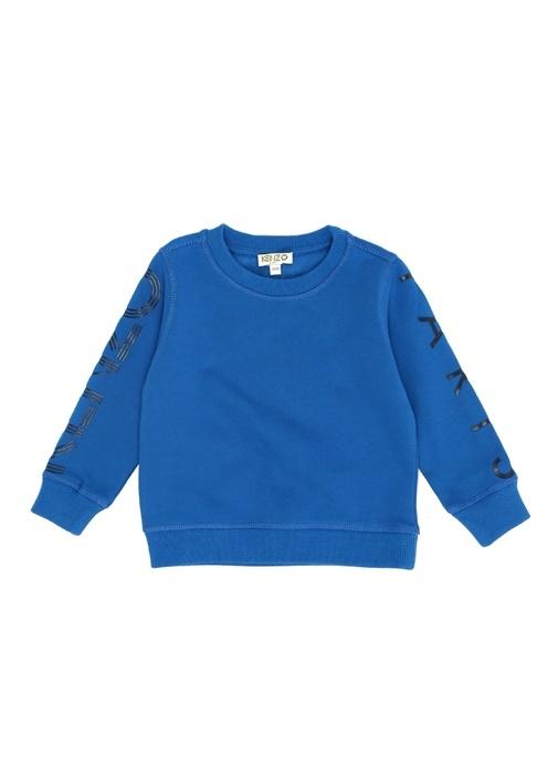Mavi Logo Baskılı Erkek Çocuk Sweatshirt