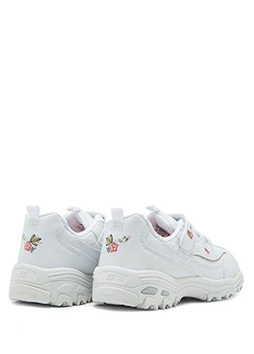 D Lites Beyaz Çiçek Nakışlı Kız Çocuk Sneaker