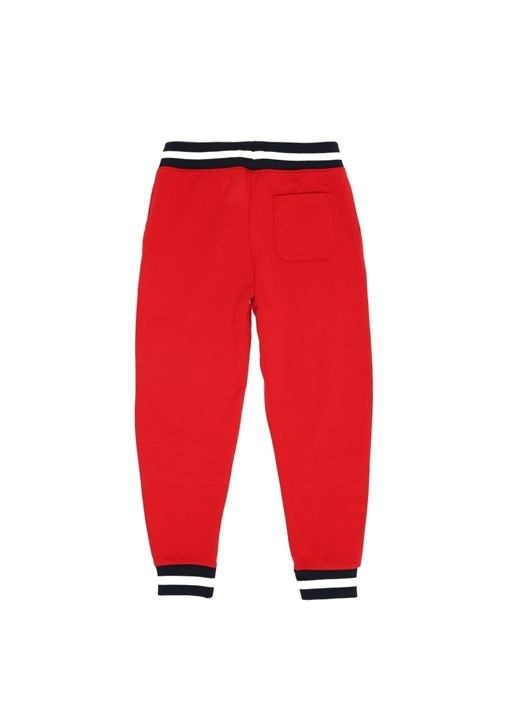 Kırmızı Kontrast Şeritli Erkek Çocuk Pantolon