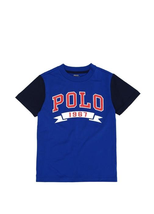 Mavi Logo Baskılı Erkek Çocuk T-shirt