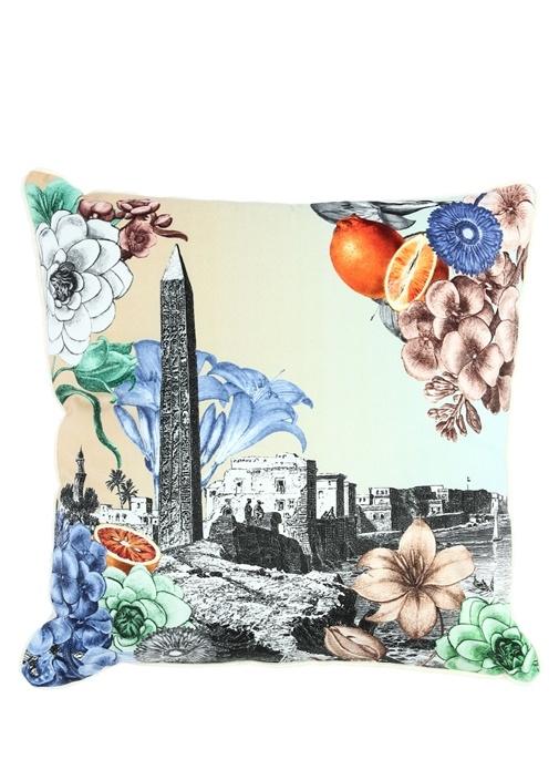 Colorblocked Desenli 45x45 cm DekoratifYastık