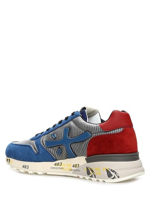 Mick Gri Mavi Taban Detaylı Erkek Yün Sneaker