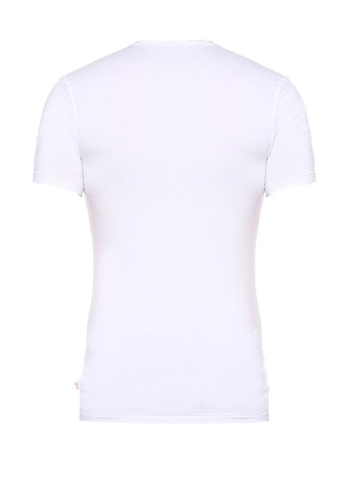 Alex Beyaz V Yaka T-shirt