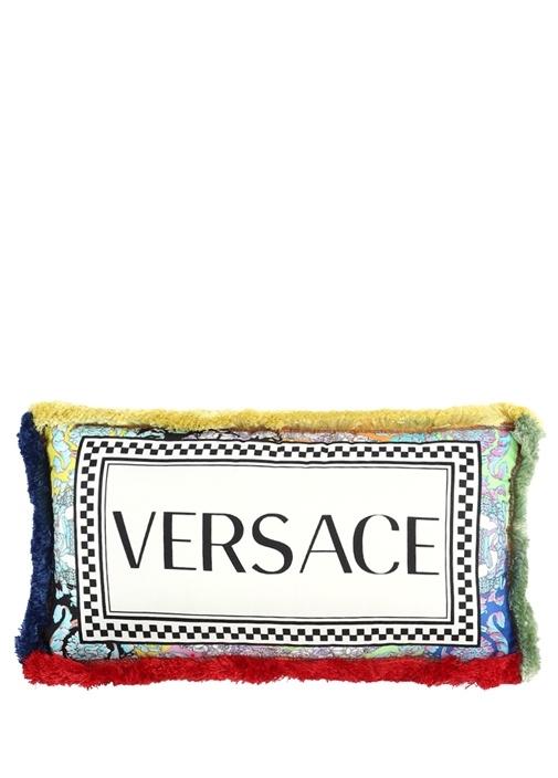 Colorblocked 45x25 cm İpek Dekoratif Yastık