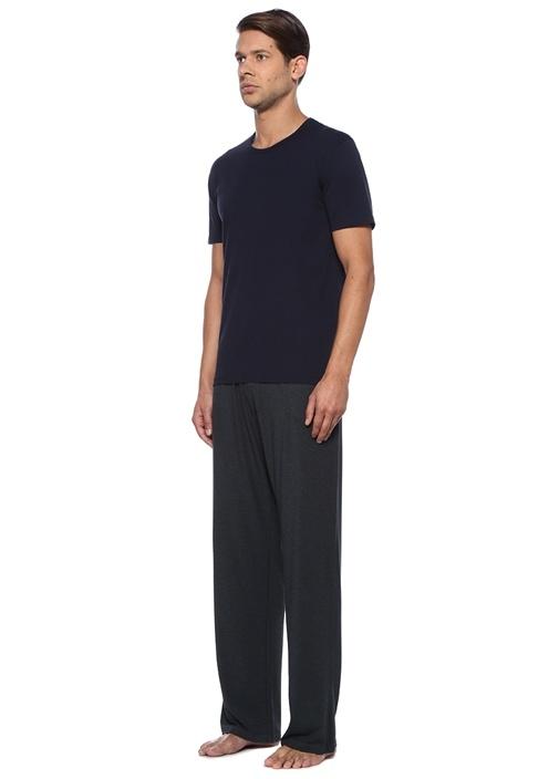 Antrasit Kordonlu Boru Paça Jersey Pijama Altı