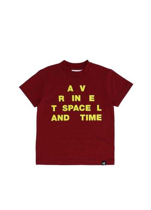 Roxo Bordo Yazı Baskılı Erkek Çocuk T-shirt