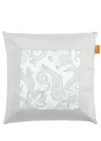 Etro Home Gri Etnik Desenli 45x45 cm Dekoratif Yastık Standart