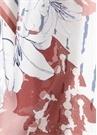Pudra Mavi Çiçekli Kadın İpek 90x90 cm Eşarp