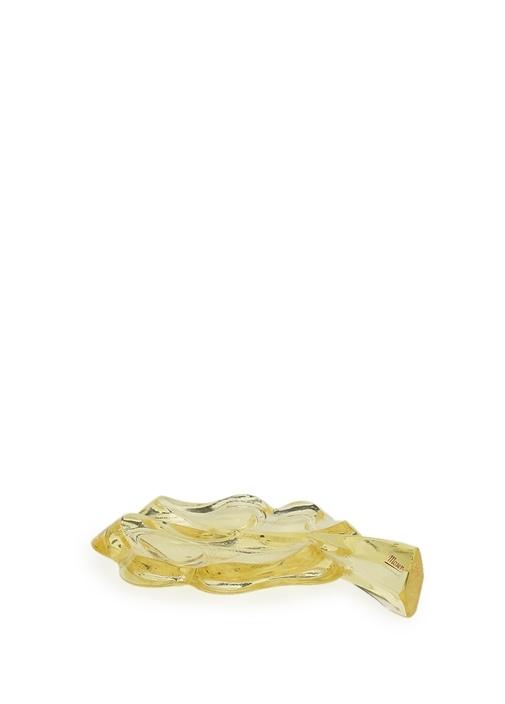 Sarı Yonca Formlu Kristal Kağıt Ağırlığı
