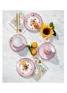 Floral Pip Kuş Desenli Pembe Çay Fincanı