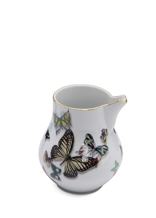 Lacroix Beyaz Kelebek Baskılı Sütlük
