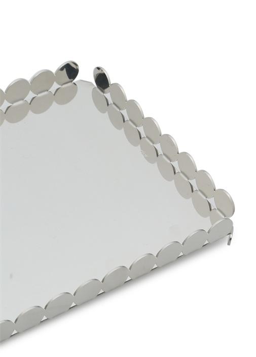 Silver Ayna Detaylı Tepsi