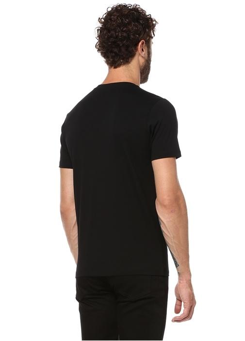 Bisiklet Yaka Standart Fit Siyah Tshirt