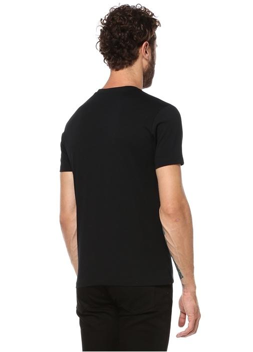 V Yaka Standart Fit Siyah Tshirt
