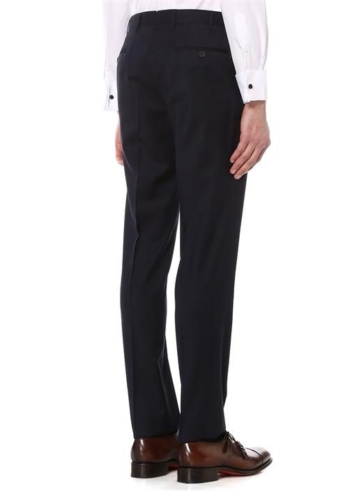 Drop 7 Lacivert Pilesiz Yün Pantolon