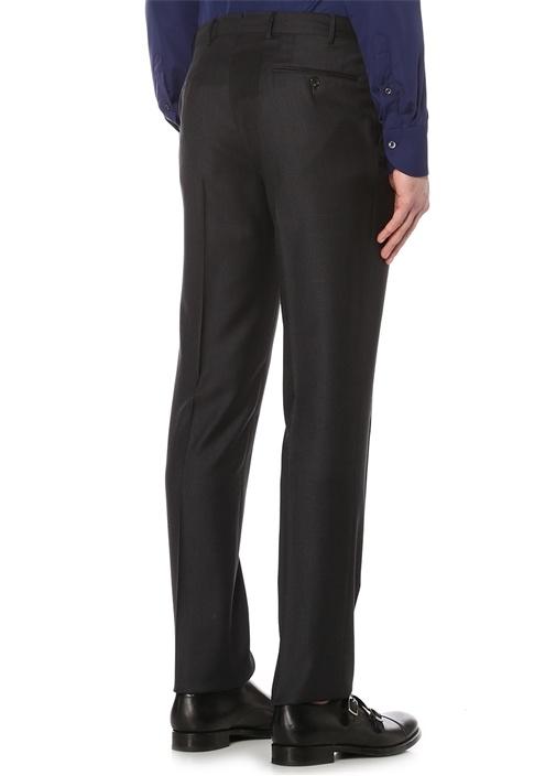 Gri Yün Standart Fit 7 Drop Normal Bel Pantolon