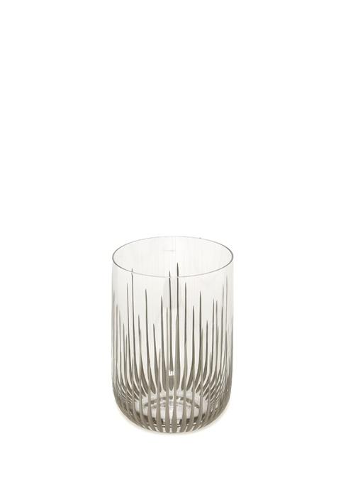 Silver Çizgili Cam Su Bardağı