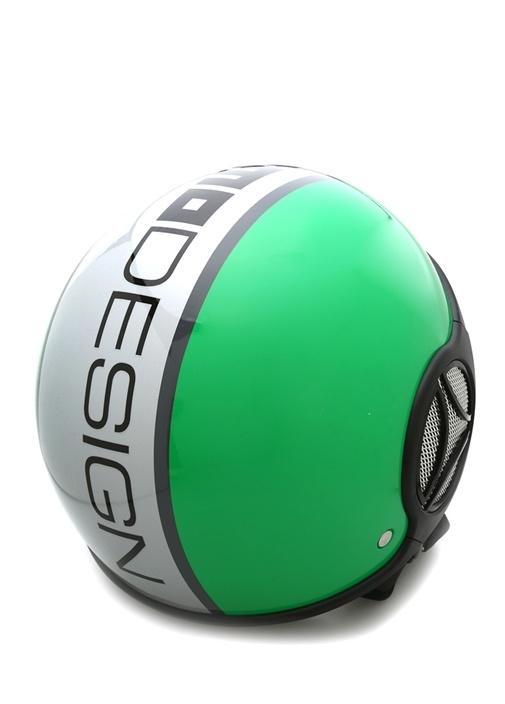 Yeşil Logo Baskılı Erkek Kask