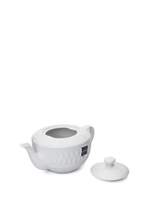Louisiane Beyaz Porselen Çay Demliği