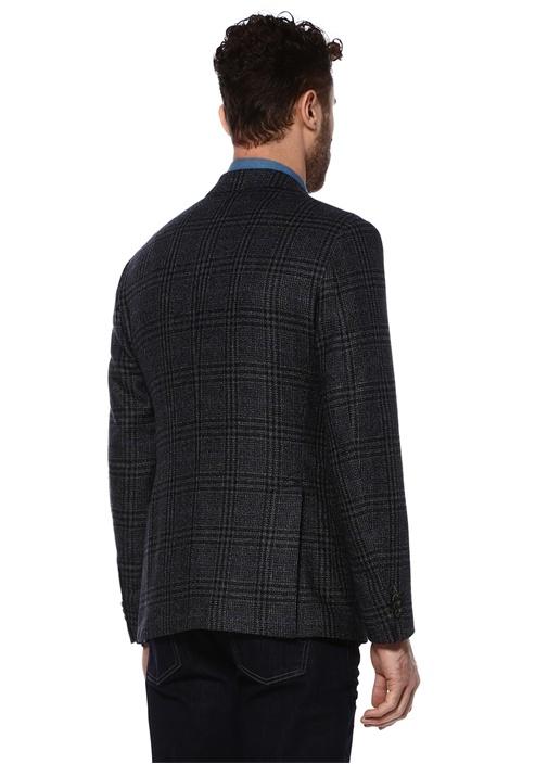 Lacivert 8 Drop Yün Jersey Ceket